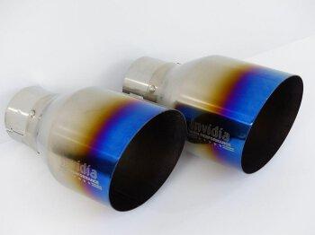 Invidia Endrohrsatz (2 Stück)  li/re Titan/blau...